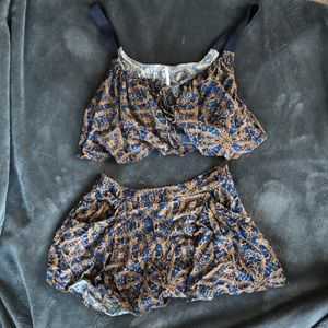 Free people crop and short set